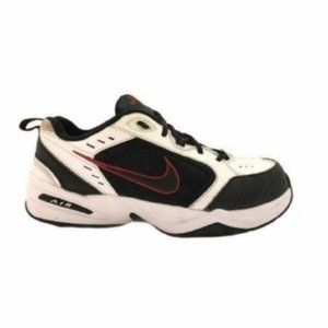 Nike (12.5) White Leather Air Monarch IV Sneakers